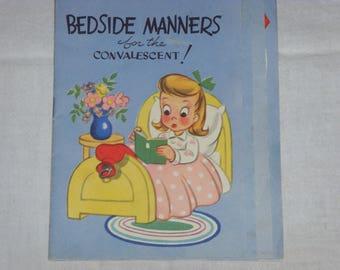 Vintage Bedside Manners Get Well Card