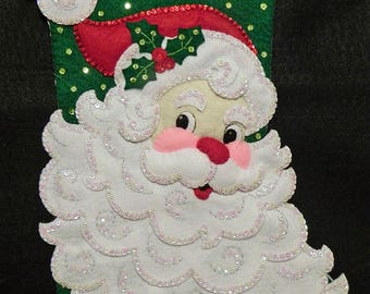 Jolly St. Nick Bucilla 18 Inch Completed Stocking
