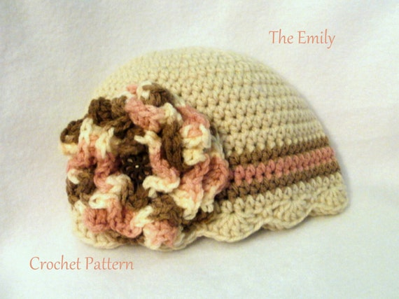 Crochet Pattern Baby Hat The Emily Baby Hat Cloche Pattern Crochet