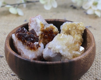 Raw Crystal Small Citrine Raw Stone Healing Crystals and Stones Raw Citrine Cluster Cleansing Stone Meditation Stone Natural Bohemian