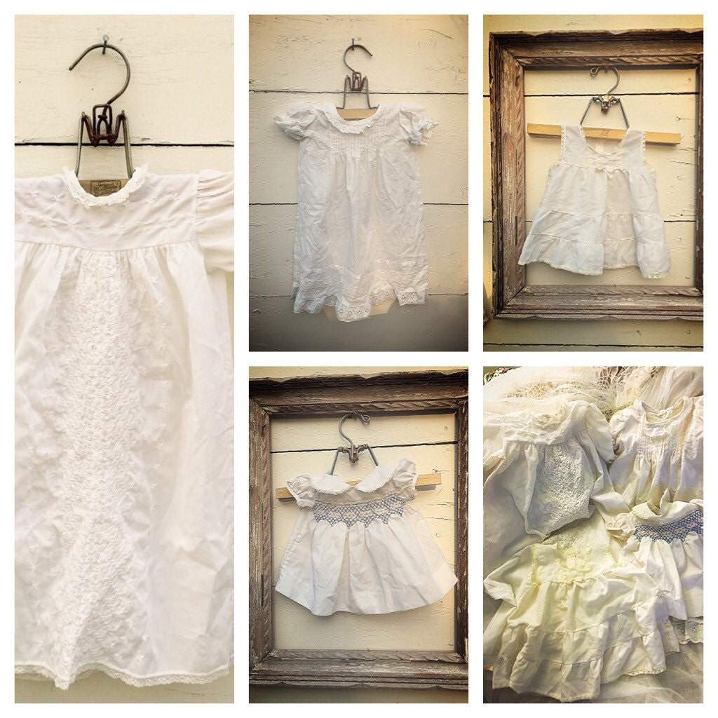 vintage baby gowns vintage off white gown baby gown and
