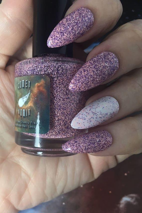 Far Out! Glitter Polish vegan pink purple white matte thermal