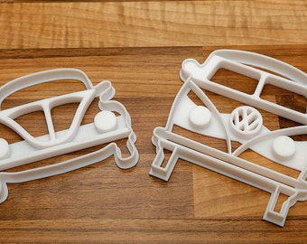 VW Camper and VW beetle Cookie Cutter - Large