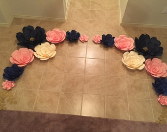Paper Flower set for backdrop