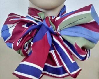 Vera Neumann Silk Long Scarf Abstract Floral
