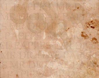 Antique Book Page / Scrapbook Paper / Vintage Paper Texture / Paper Background / Paper Ephemera / Digital Instant Download / Old Book Page
