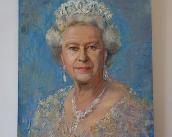 THE QUEEN - Painting On Canvas by Yolo