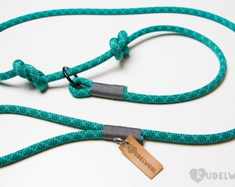 "Rudelwohl. Retrieverleine/Moxonleine ""Turquoise water""/leash/Dog leash/Tauleine"