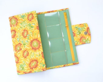 Jewelry holder sunflower, Jewelry organizer travel, Jewelry roll, Jewelry storage, Necklace earring organizer, Jewelry travel case bag