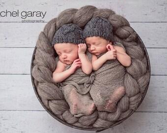 Twin Newborn Hats, Newborn Hat Boy, Newborn Boy Hat, Twin Baby Hats, Newborn Photo Prop Boy, Newborn Twins Baby Twins Newborn Photo Prop Hat