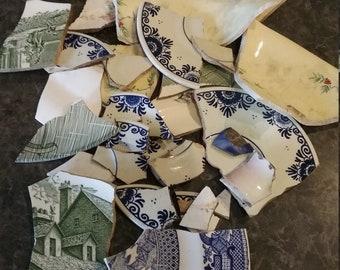 Broken Vintage Plates for mosaic tile