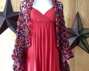 Crocheted Lacy Drape Sleeve Shrug - Ready to Ship!