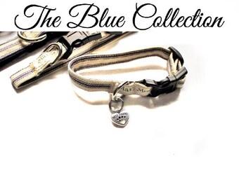 Dog Collar Friendship Bracelet, Blue Matching Dog Collar Bracelet, Matching BFF Dog Collar Bracelet, Dog Collar Matching Bracelet, Pet Lover