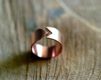 Copper arrow ring