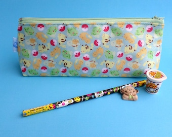 Cute Pokemon Pencil Case Zipper Pouch Bag Pen Box School Anime Pikachu Charmander Bulbasaur Squirtle