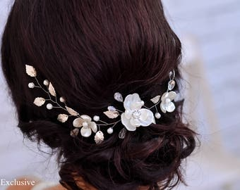 Bridal hair vine Wedding hair accessories Bridal hair piece Wedding hair vine Bridal headpiece wedding Bridal hairpiece Pearl hair piece