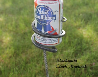 Beer holder, camping accessories, wine and beer holder, beverage holder SET OF 2, drink holders, Beach supplies, outdoor party supplies