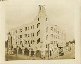Mexico City street view antique photo
