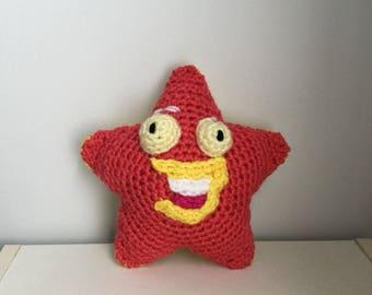 Made to Order: Crochet Amigurumi Pink and Yellow Cartoon Starfish Plush