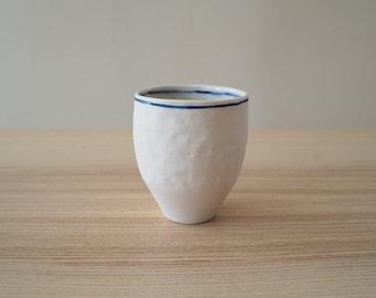 handmade white matte ceramic mug