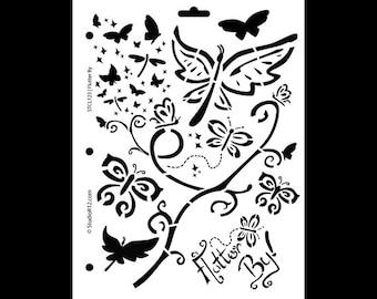 "Flutter By Stencil - 8 1/2"" x 11"" - STCL123 by StudioR12"