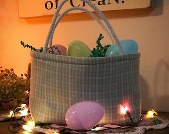 Plaid, Treat Basket, Small Tote, Treat Bag, Candy, Makeup, Bag