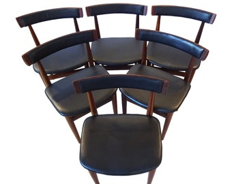 A Set Of 6 Danish Mid Century Dining Chairs Designed By Hans Olsen For Frem  Røjle