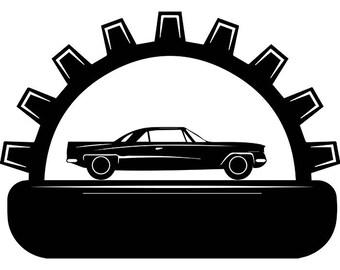 mechanic logo 54 wrench engine auto car part biker motorcycle rh etsy com Auto Repair Shop Inside Auto Body Repair Logos