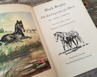 Vintage 1940's Black Beauty by Anna Sewell