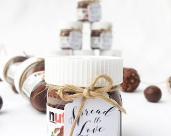 Nutella Jar Give away Tags/bonbonniere for all occasions