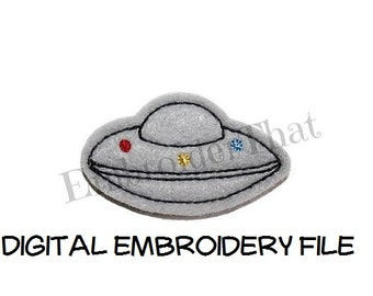 INSTANT DOWNLOAD UFO Feltie Embroidery Design File