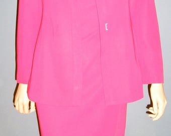 SALE, Vintage 90s, Armani, pink, silk, dress suit, Made in Italy, size 42 Italy, 2-4 US