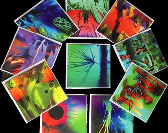 Abstract greetings cards (blank) 10 set (1)