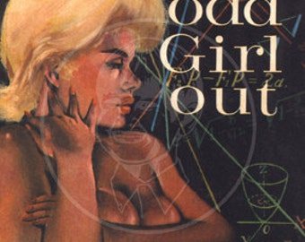 Odd Girl Out - 10x16 Giclée Canvas Print of Vintage Pulp Paperback