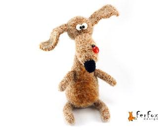 Plush dog figurine Stuffed dog lover gift OOAK art dog doll Plush doggie Stuffed dachshund Plush puppy Stuffed animals Stuffed puppy Plushie