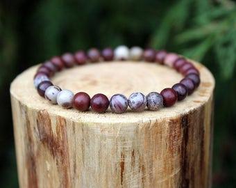 Apache Jasper Bracelet, Apache Bracelet, Jasper Bracelet, Brown Bead Bracelet, Gemstone Bracelet, Beaded Bracelet, Men's/Women's Bracelet