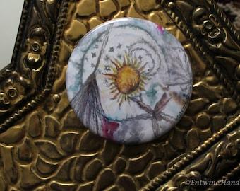 Hexen kompakte Taschenspiegel mit samt Tasche Original-Kunstwerken