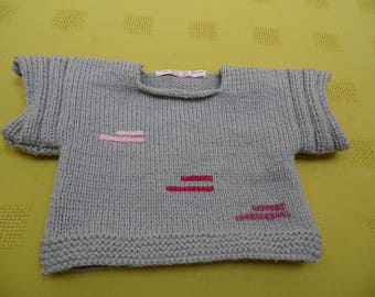 Premium Italian leather with embroidery Poncho sweater size 4t