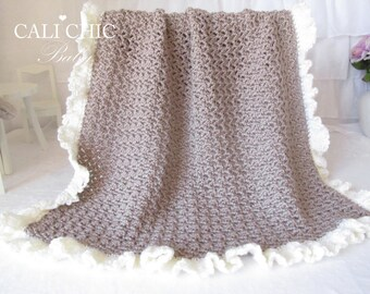 Crochet PATTERN 91 - Chocolate Dream Baby Blanket Pattern - Instant Download PDF Pattern