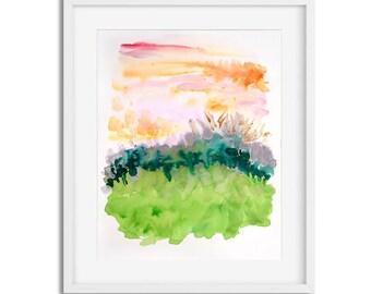 Sherbet Sky Giclée Print