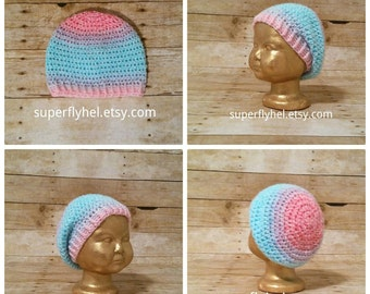 Baby Slouchy Beanie, Kids Slouch Hat, Ombre Slouchy, Slouchy Hat Beanie, Crochet Hat, Winter Hat, Fashionable Hat, Girl