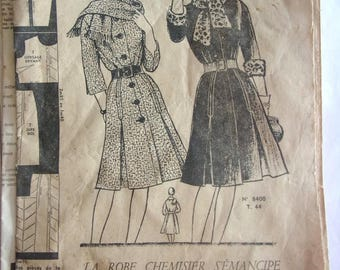vintage sewing pattern dress BLOUSE women # 902