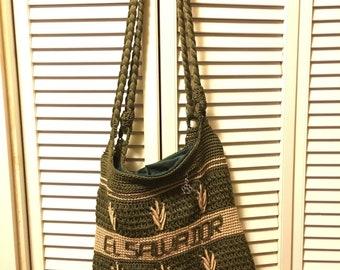 Knitted El Salvador shoulder bag