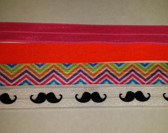 """Fold Over Elastic - By the Yard or Quarter Yard - Your choice of colors - 5/8"""" FOE"""