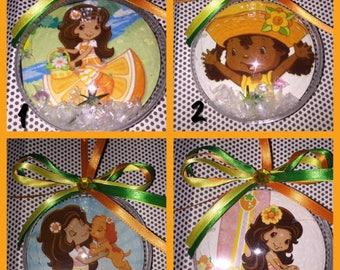 1 Strawberry  shortcake orange blossom themed ornament of your choice