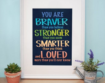 Digital File :  you are braver than you believe _ Poster