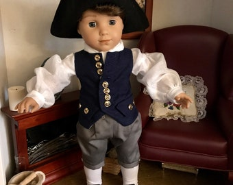 Colonial George Washington outfit for American Girl Logan
