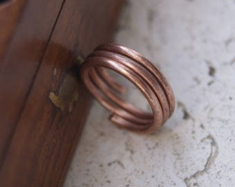 Copper mens ring, copper ring for men, rustic copper ring, jewelry for men, copper man ring, copper rustic ring for men, copper rustic