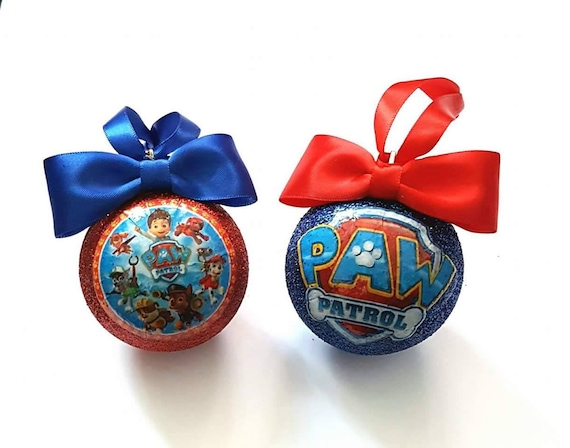 Paw Patrol Christmas Tree Decorations - set of 2