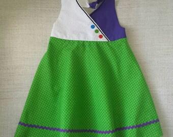 Buzz Lightyear Toy Story Disney Pixar inspired girls halter dress